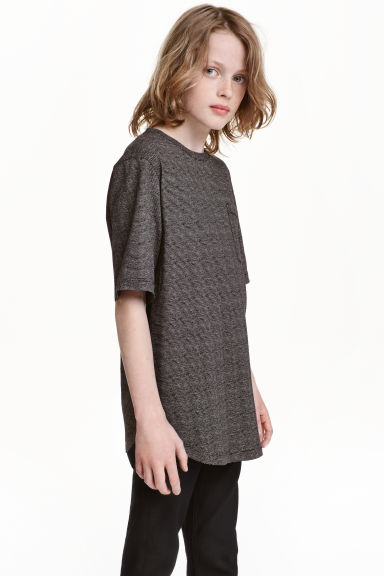 Long T-shirt - Black/Striped - Kids | H&M CN 1