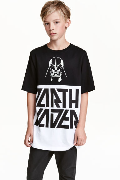 Printed T-shirt - Black/Star Wars - Kids | H&M CN 1