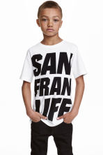 Printed T-shirt - White/San Francisco - Kids | H&M CN 1