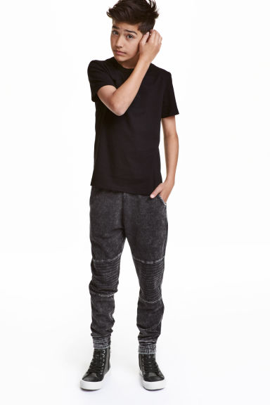 Denim-look joggers - Black washed out - Kids | H&M CN 1