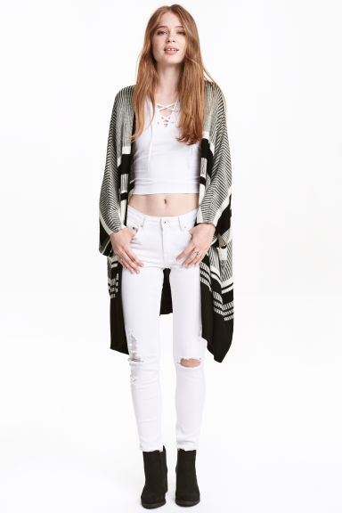 Knitted cardigan - Black -  | H&M CN