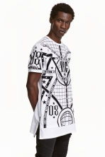 Long printed T-shirt - White/New York - Men | H&M CN 1