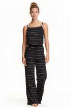 Jersey jumpsuit - Black/Striped - Ladies | H&M CN 1