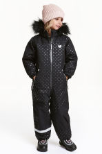 Padded all-in-one suit - Black/Spotted - Kids | H&M CN 1