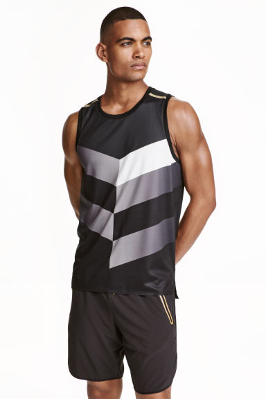Sports top - Black/Grey - Men | H&M CN 1