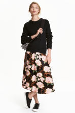 Patterned skirt - Black/Floral - Ladies | H&M CN 1
