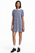 Patterned dress - Dark blue/Small floral - Ladies | H&M CN 1