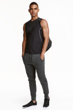 Jersey sports joggers - Dark grey marl - Men | H&M CN 1