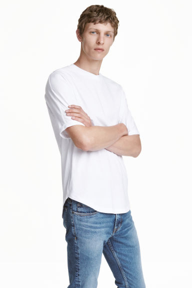 Cotton T-shirt - White - Men | H&M CN 1