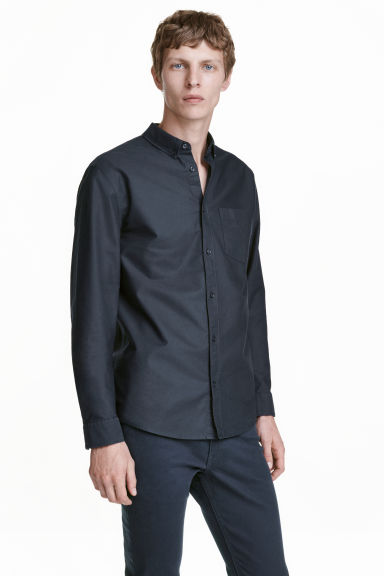 Camicia Oxford - Blu scuro - UOMO | H&M IT 1