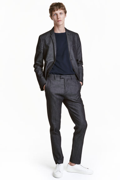 Pantaloni da completo in denim - Blu denim scuro - UOMO | H&M IT 1