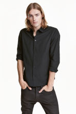Cotton shirt - Black/Small checked - Men | H&M CN 1