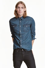 Denim shirt - Dark denim blue - Men | H&M 2