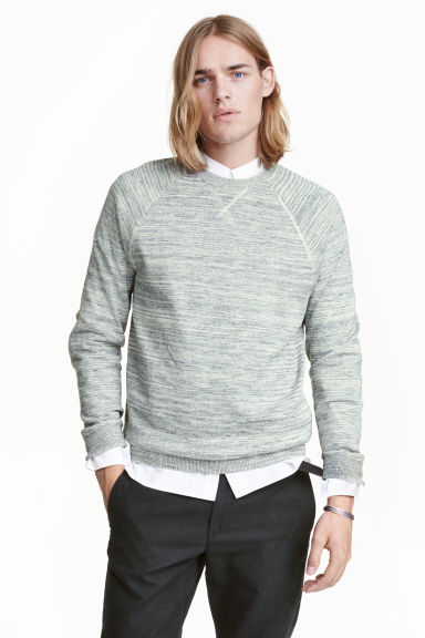 Fine-knit jumper - Grey marl - Men | H&M CN 1