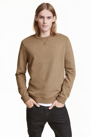 Sweatshirt - Dark beige marl - Men | H&M CN