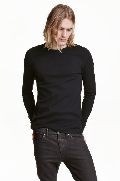 Waffled top - Black - Men | H&M CN