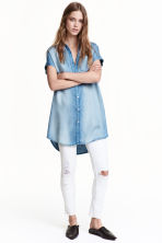 Lyocell shirt dress - Light denim blue - Ladies | H&M CN 1