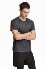 Short-sleeved running top - Dark grey - Men | H&M CN 1