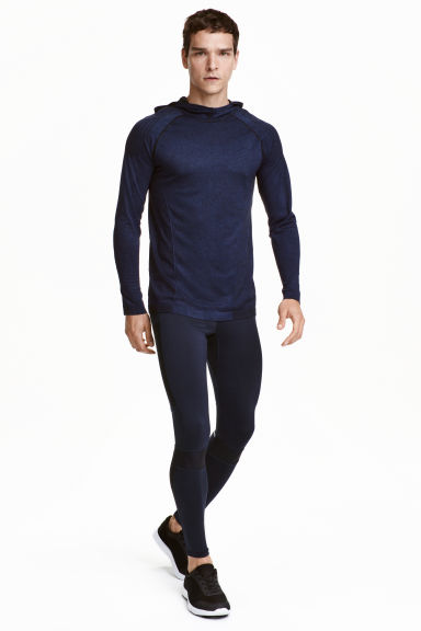 Running tights - Dark blue - Men | H&M CN 1