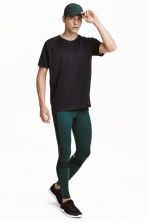Running tights - Dark green -  | H&M CN 1