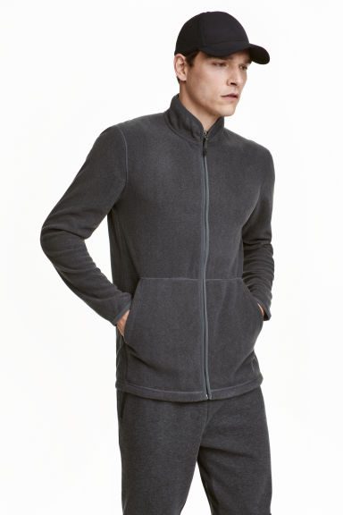 Fleece jacket - Dark grey marl - Men | H&M CN 1