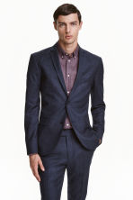 Giacca in misto lana Slim fit - Blu scuro - UOMO | H&M IT 1