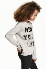 Printed sweatshirt - Grey/New York - Kids | H&M CN 1