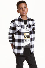 Checked flannel shirt - Black - Kids | H&M CN 1
