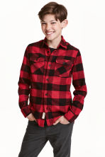 Checked flannel shirt - Red - Kids | H&M CN 1
