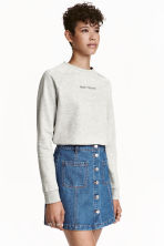 Sweatshirt with motif - Grey - Ladies | H&M CN 1