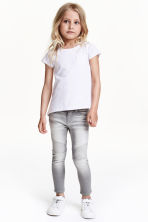 Skinny Fit Biker Jeans - Grey washed out - Kids | H&M CN 1