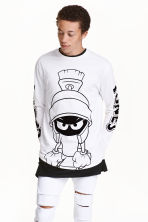 Printed long-sleeved T-shirt - White/Looney Tunes - Men | H&M CN 1