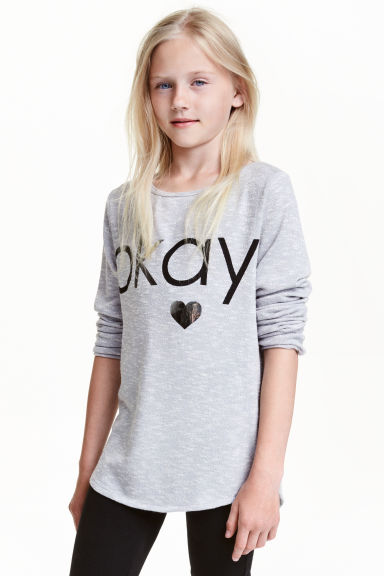 Fine-knit jumper - Light grey marl - Kids | H&M CN 1