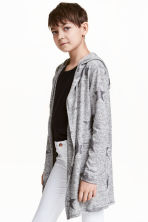 Cardigan with a glitter print - Grey marl/Stars - Kids | H&M CN 1