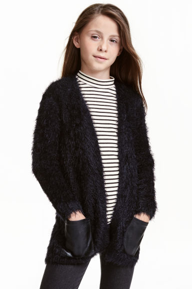 Knitted cardigan - Black - Kids | H&M CN 1