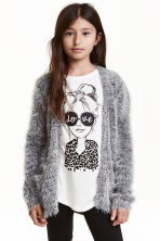 Knitted cardigan - Grey marl -  | H&M CN 1