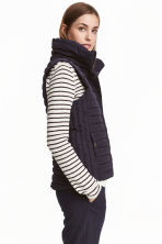 Padded gilet - Dark blue - Ladies | H&M CN 1
