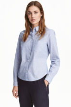 Cotton shirt - Light blue/Spotted - Ladies | H&M CN 1