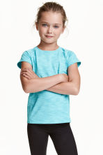 Sports top - Turquoise marl - Kids | H&M CN 1