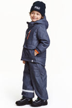 Outdoor trousers with braces - Dark blue marl - Kids | H&M CN 1