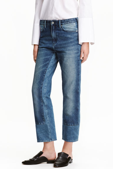 Regular Low Cropped Jeans - Blu denim - DONNA | H&M IT 1