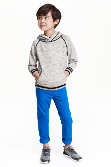 Twill trousers Regular fit - Cornflower blue -  | H&M CN 1
