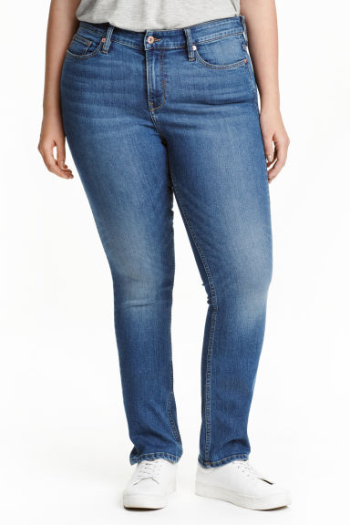 H&M+ Straight Regular Jeans - Blu denim - DONNA | H&M IT