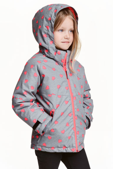Padded winter jacket - Grey heart - Kids | H&M CN 1