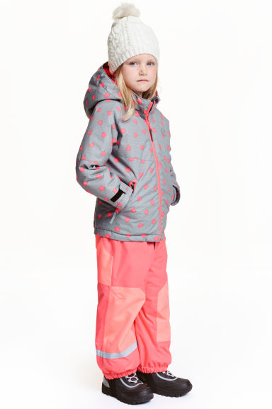 Outdoor trousers with braces - Neon pink -  | H&M CN 1