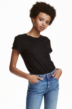 Jersey top - Black - Ladies | H&M 3