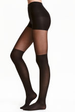 Overknee-look tights - Black - Ladies | H&M CN 1