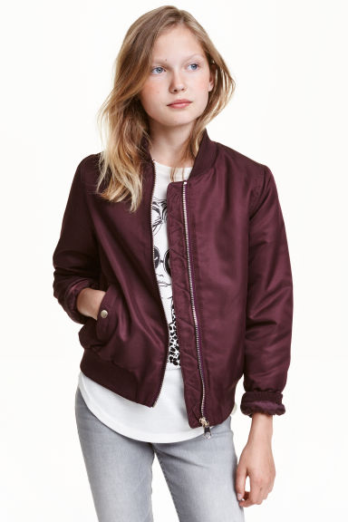 Bomber imbottito - Bordeaux -  | H&M IT 1