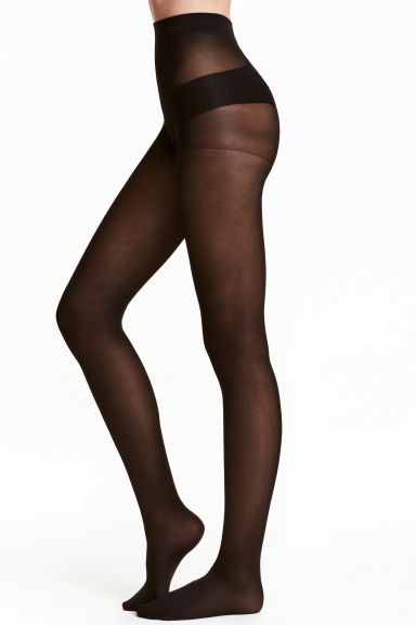 70 denier support tights - Black - Ladies | H&M CN 1