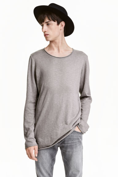 Fine-knit jumper - Grey - Men | H&M CN 1